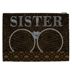 Sister Xxl Cosmetic Bag By Lil    Cosmetic Bag (xxl)   Nmm9dh8oj1eb   Www Artscow Com Back