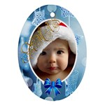 Christmas - Oval Ornament (Two Sides)