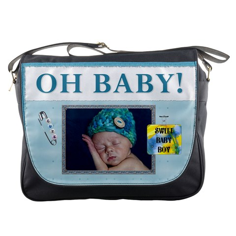 Oh Baby Boy Messenger Bag By Lil    Messenger Bag   Hnavyqaufsb7   Www Artscow Com Front