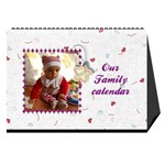 Our Family desktop calendar white 2013 - Desktop Calendar 8.5  x 6