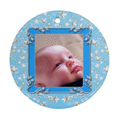 First Christmas  2 Round Ornament (2 Sided) By Deborah   Round Ornament (two Sides)   P9snybew796u   Www Artscow Com Front