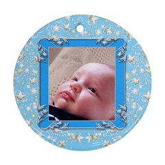 First Christmas  2 Round Ornament (2 Sided) By Deborah   Round Ornament (two Sides)   P9snybew796u   Www Artscow Com Back