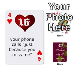 Cards By Allison Buice   Playing Cards 54 Designs   Ckz5sxgmo7pl   Www Artscow Com Front - Heart4