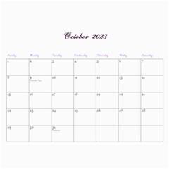 2016 Lavender Dream   Wall Calendar 11x8 5 (12mths) By Picklestar Scraps   Wall Calendar 11  X 8 5  (12 Months)   Hbbyqt1tqx8t   Www Artscow Com Oct 2016