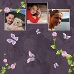 Lavender Dream - Scrapbook Page 8x8  - ScrapBook Page 8  x 8