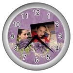 Lavender Dream - Wall Clock (Silver)