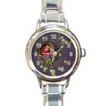 Lavender Dream - Round Italian Charm Watch