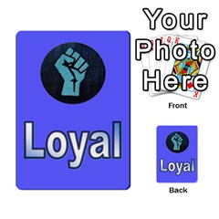 The Resistance: Loyalty By Don   Multi Purpose Cards (rectangle)   Kaimtsxewau6   Www Artscow Com Front 31