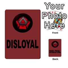 The Resistance: Loyalty By Don   Multi Purpose Cards (rectangle)   Kaimtsxewau6   Www Artscow Com Front 42