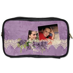 Lavender Dream   Toiletries Bag (two Sides)  By Picklestar Scraps   Toiletries Bag (two Sides)   I97i2o4zyga1   Www Artscow Com Front