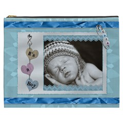 Its A Boy Xxxl Cosmetic Bag By Lil    Cosmetic Bag (xxxl)   Jq1e3i9zfskh   Www Artscow Com Front