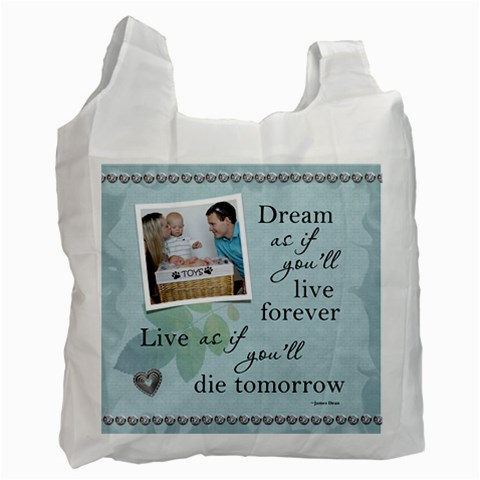 Dream Recycle Bag (1 Sided) By Lil    Recycle Bag (one Side)   A6ylozg710ua   Www Artscow Com Front