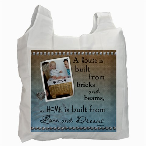 Home Recycle Bag (1 Sided) By Lil    Recycle Bag (one Side)   S8aor2e48fer   Www Artscow Com Front