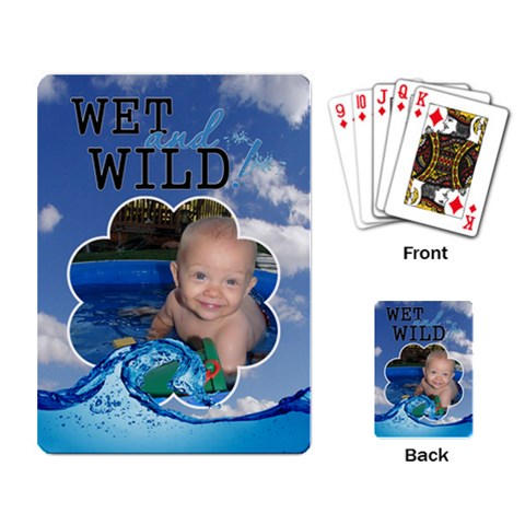 Wet And Wild Playing Cards By Lil    Playing Cards Single Design   7sp385ydns1x   Www Artscow Com Back