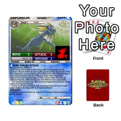 Queen Pokemon 108 151 Extras New By Seth   Playing Cards 54 Designs   U7nx7jmpxk6f   Www Artscow Com Front - HeartQ