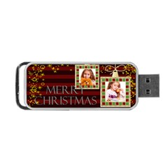 Christmas By Joely   Portable Usb Flash (two Sides)   Odyplv3d9oap   Www Artscow Com Front
