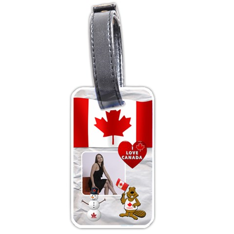 Canada Luggage Tage (1 Sided) By Lil    Luggage Tag (one Side)   T1hgq8n4710d   Www Artscow Com Front
