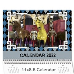 Blue Check Wall Calendar (any Year) 2017 By Deborah   Wall Calendar 11  X 8 5  (12 Months)   26g0lurebnb0   Www Artscow Com Cover