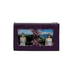 Pin Swirl Cosmetic Bag (small) By Deborah   Cosmetic Bag (small)   Ht85r1yhau7f   Www Artscow Com Back