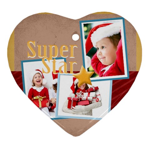 Christmas By Mac Book   Ornament (heart)   322r84kucigt   Www Artscow Com Front