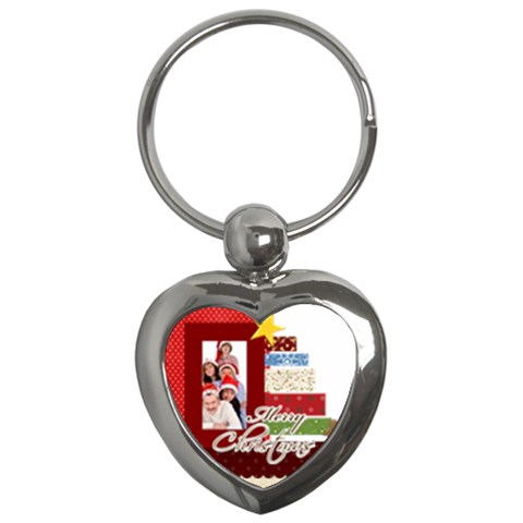Christmas By Betty   Key Chain (heart)   3ak1g3g6ct28   Www Artscow Com Front