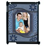 Denim Look Apple iPad 2 Case (Black)