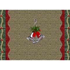 Holly Jolly 3d Christmas Card By Lil    Circle 3d Greeting Card (7x5)   G3jq0h1ne3yu   Www Artscow Com Back