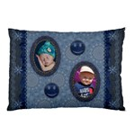 Smiley Denim Look Pillow Case