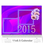 Colorful calendar 2015 - Wall Calendar 11  x 8.5  (12-Months)
