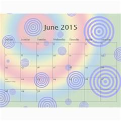 Colorful Calendar 2015 By Galya   Wall Calendar 11  X 8 5  (12 Months)   9qk39sxv0tuw   Www Artscow Com Jun 2015