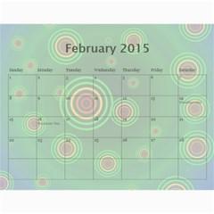 Colorful Calendar 2015 By Galya   Wall Calendar 11  X 8 5  (12 Months)   9qk39sxv0tuw   Www Artscow Com Feb 2015