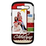 merry christmas - Samsung Galaxy S III Hardshell Case (PC+Silicone)