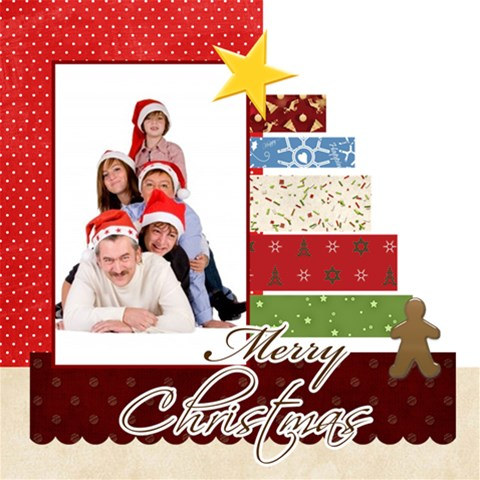 Merry Christmas By Betty   Scrapbook Page 12  X 12    Qxem6etgg3q6   Www Artscow Com 12 x12 Scrapbook Page - 1