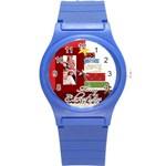 merry christmas - Round Plastic Sport Watch (S)