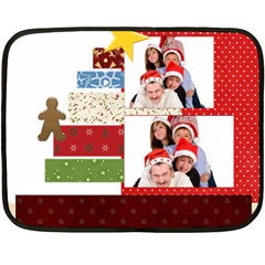 Merry Christmas By Betty   Double Sided Fleece Blanket (mini)   Ms4555s9iaqw   Www Artscow Com 35 x27 Blanket Back