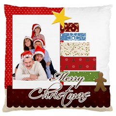 Merry Christmas By Betty   Large Cushion Case (two Sides)   Z9bid9llpzee   Www Artscow Com Front