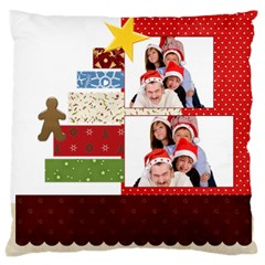 Merry Christmas By Betty   Large Cushion Case (two Sides)   Z9bid9llpzee   Www Artscow Com Back