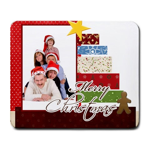 Merry Christmas By Betty   Large Mousepad   7xzyfhu3fs2j   Www Artscow Com Front