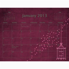 Wendy By Wendy   Wall Calendar 11  X 8 5  (12 Months)   Oh84s4bz23y9   Www Artscow Com Jan 2013