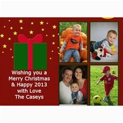 Xmas Card By Josipa   5  X 7  Photo Cards   1wtcok662aks   Www Artscow Com 7 x5 Photo Card - 62