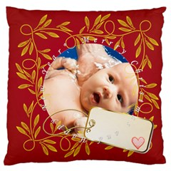 Merry Christmas, Xmas, Happy New Year  By Wood Johnson   Large Cushion Case (two Sides)   Jxovkcf43zg5   Www Artscow Com Front