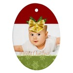 merry christmas, xmas, happy new year  - Ornament (Oval)