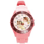 merry christmas, xmas, happy new year  - Round Plastic Sport Watch (L)
