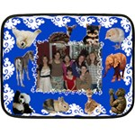 Baby Animal Blanket mini two sides - Double Sided Fleece Blanket (Mini)