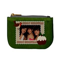 Christmas Fuzzy Felt Mini Purse By Claire Mcallen   Mini Coin Purse   632u1gzjj3go   Www Artscow Com Front