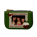 Christmas fuzzy felt mini purse - Mini Coin Purse