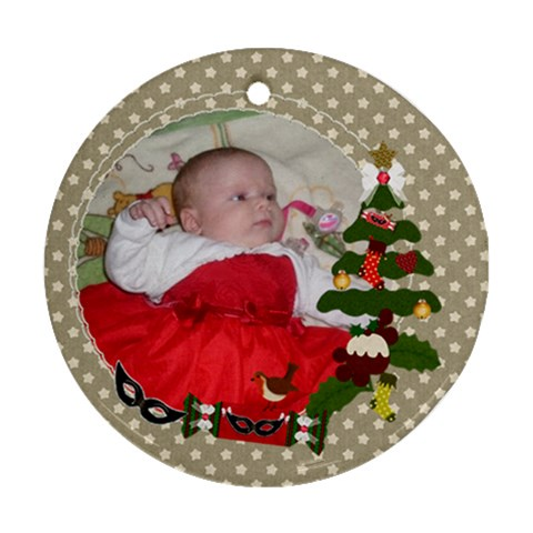 Christmas Tree Frame By Claire Mcallen   Ornament (round)   Jwmm1wtksu0v   Www Artscow Com Front