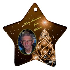 Heaven Star Moma  By Gloria Ann Butler   Star Ornament (two Sides)   3qb92y3e4n77   Www Artscow Com Front