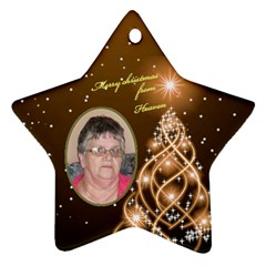 Heaven Star Moma  By Gloria Ann Butler   Star Ornament (two Sides)   3qb92y3e4n77   Www Artscow Com Back