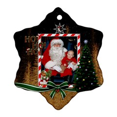 Ho Ho Ho Snowflake Ornament (2 Sided) By Lil    Snowflake Ornament (two Sides)   Lpq1en0slkhj   Www Artscow Com Front